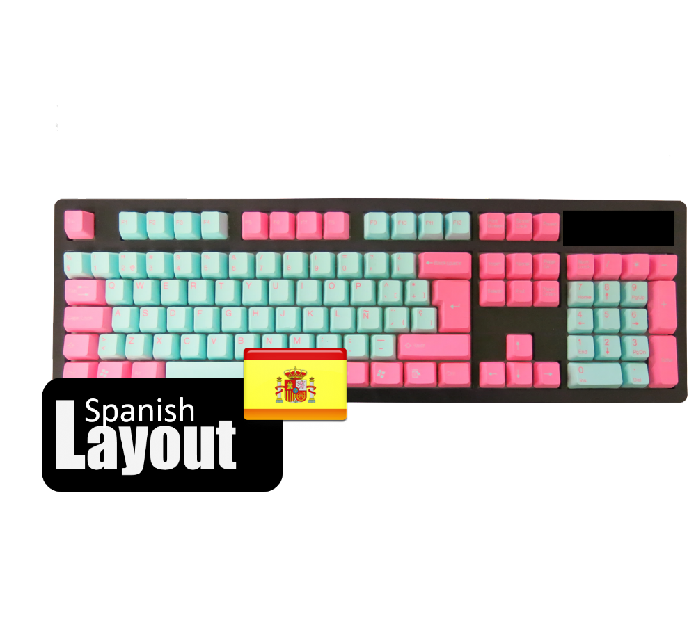 Tai-Hao PBT Non Backlit Double Shot Keycaps Miami Spanish